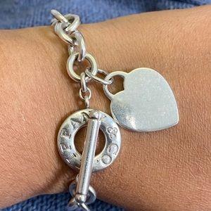 Tiffany and co. Heart toggle bracelet